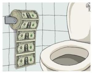 us-dollar toilet paper