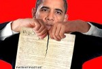 Obama thrashing the Constitution