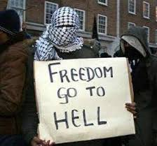 To hell with liberty they like Sharia law