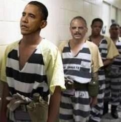Obama & holder in stripes