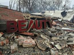 black-owned business burned to the ground