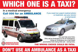 taxi or ambulance