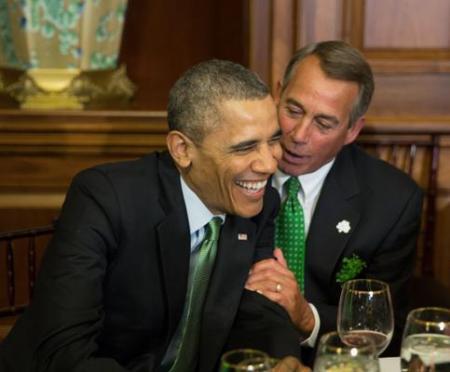 Obama, Boner hugfest