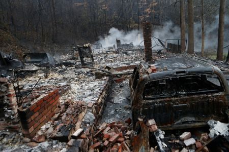 Wildfires Rage Through Tennessee Resort Town Of Gatlinburg