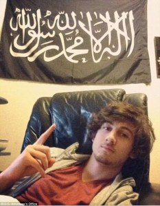Boston marathon bomber giving the same salute